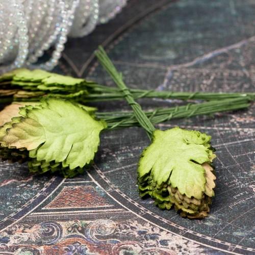 купить листья маргаритки бумажные Зеленые