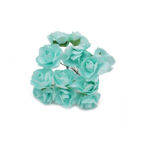 Розы бумажные Мятные, 12 шт