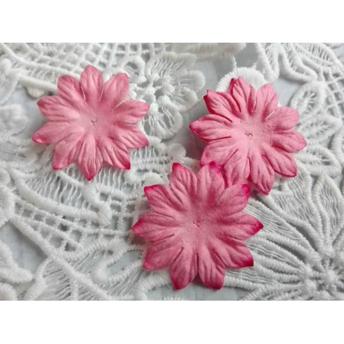 Цветок Маргаритка розовый 37 мм фото