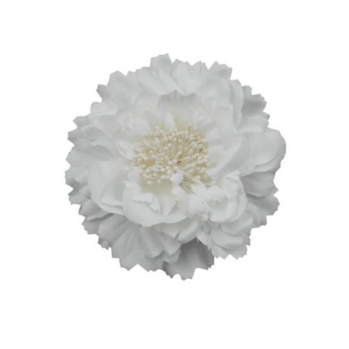 Пион тканевый белый, 11 см