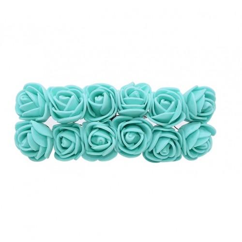 Роза с фоамирана мятная 2,2 см,  12 штук