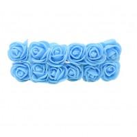 Роза с фоамирана голубая 2,2 см,  12 штук