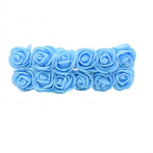 Роза с фоамирана голубая, фото