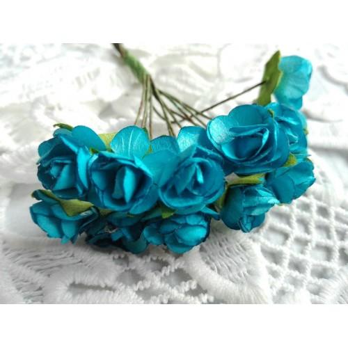 купить розы бумажные Голубые