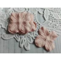 Цветок Гортензия розовый, 5 см