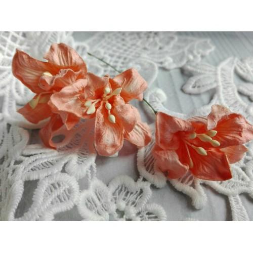 купить бумажные цветы лилии оранжевые