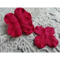 Цветок Гортензия Красный, 5 см
