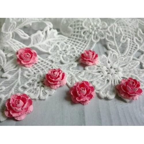 Цветы ручной работы. Роза. Розовый. 6 шт