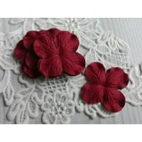 Цветок Гортензия бордовый, 5 см