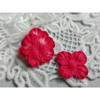 Цветок Гортензия красный, 3 см