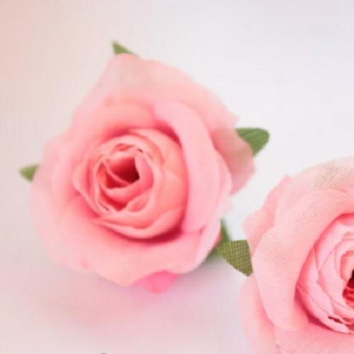 Роза мини (головка) Розовая 3.5  см фото