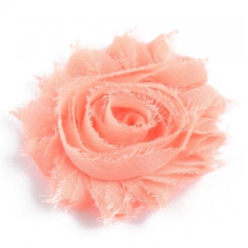 Шифоновый шебби цветок Персиковый, 1 шт