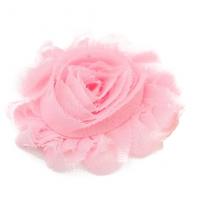 Шифоновый шебби цветок Розовый, 1 шт