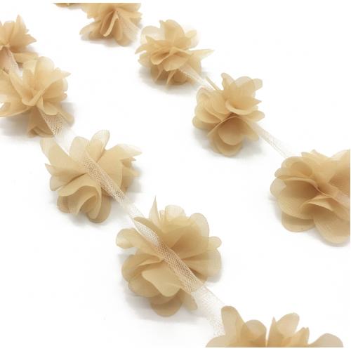 Шифоновые цветы Бежевые фото