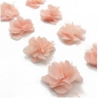 Шифоновый цветок Персиковый, 1 шт