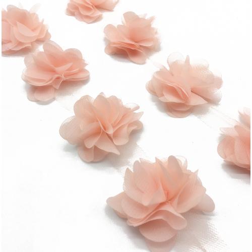 Шифоновые цветы  Персиковые фото