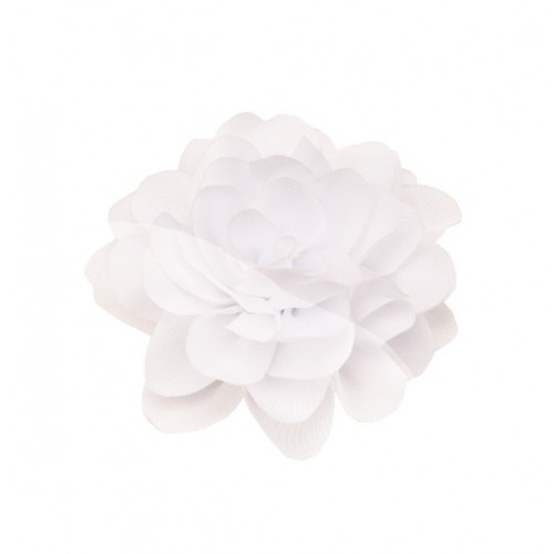 Шифоновый цветок пышный Белый, 1 шт