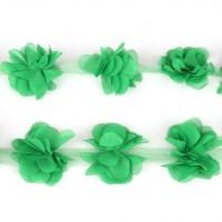 Шифоновый цветок Зеленый, 1 шт