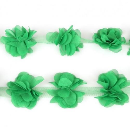 Шифоновые цветы Зеленые фото