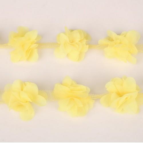 Шифоновые цветы Желтые фото