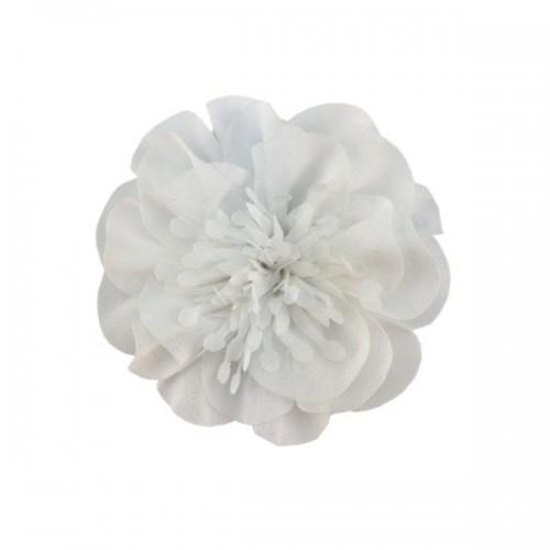 Шифоновый цветок с тычинками Белый