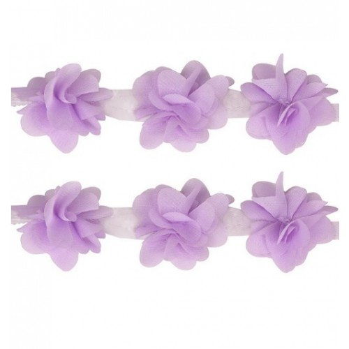 Шифоновые цветы Сиреневые фото