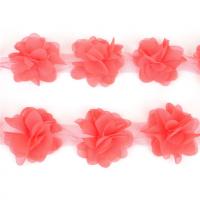Шифоновый цветок Коралловый, 1 шт