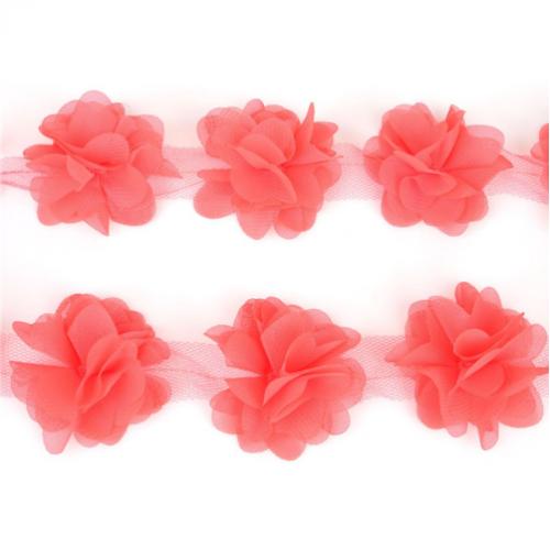 Шифоновые цветы Коралловые фото