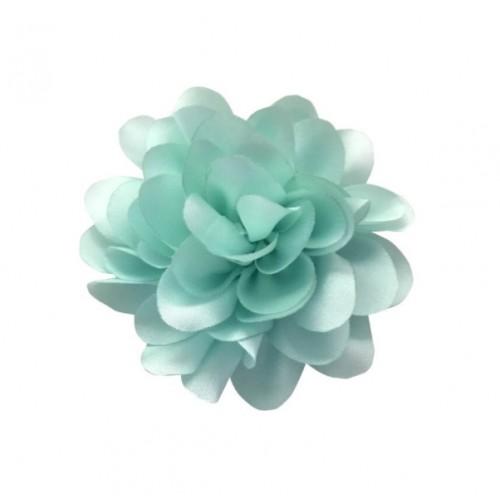 Шифоновый цветок пышный Мятный, 1 шт