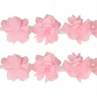 Шифоновый цветок Розовый, 1 шт