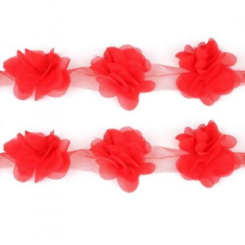 Шифоновые цветы Красные фото