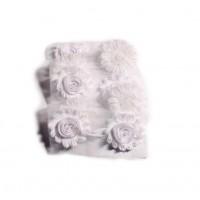 Шифоновый шебби цветок Белый, 1 шт