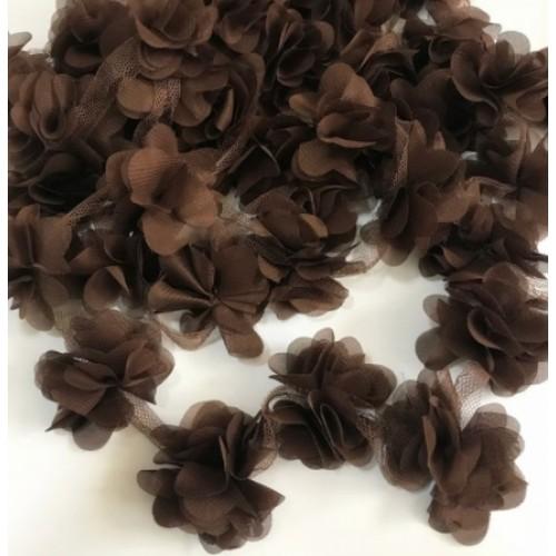 Шифоновый цветок Коричневый, фото