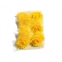 Шифоновый шебби цветок Желтый, 1 шт
