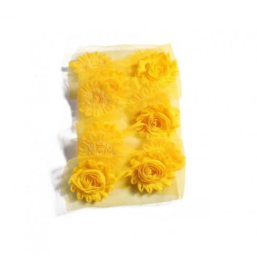Шифоновый шебби цветок Желтый фото