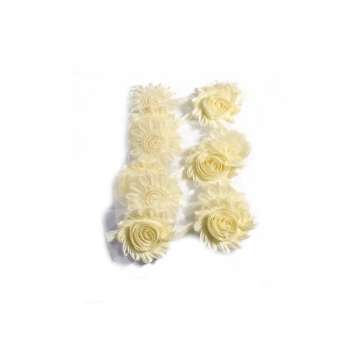 Шифоновый шебби цветок Бежевый фото