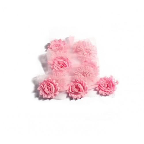 Шифоновый шебби цветок Розовый фото