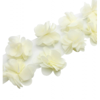 Шифоновый цветок Молочный, 1 шт
