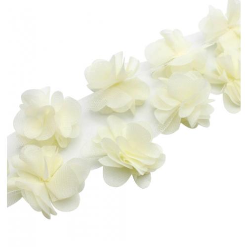 Шифоновые цветы Молочные фото