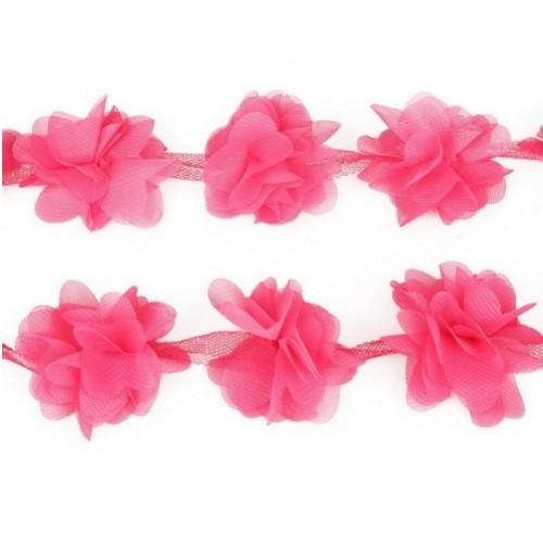 Шифоновые цветы малиновые фото