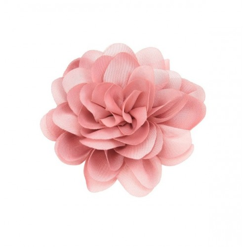 Шифоновый цветок пышный Коралловый, фото