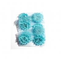 Шифоновый шебби цветок Голубой, 1 шт