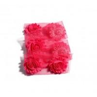 Шифоновый шебби цветок Ярко-розовый, 1 шт