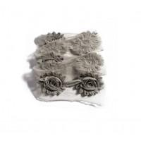 Шифоновый шебби цветок Серый, 1 шт