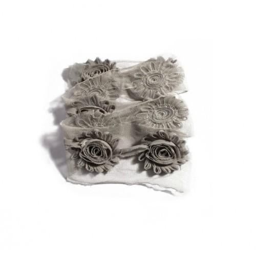 Шифоновый шебби цветок Серый фото