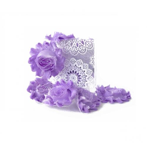Шифоновый шебби цветок Сиреневый фото