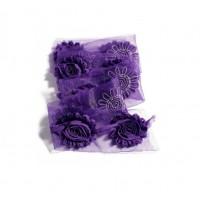 Шифоновый шебби цветок Фиолетовый, 1 шт
