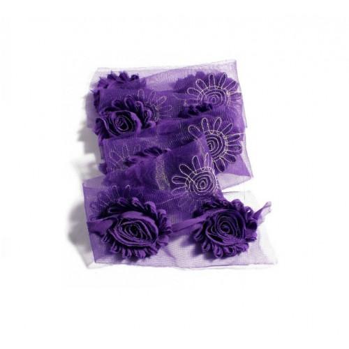 Шифоновый шебби цветок Фиолетовый фото
