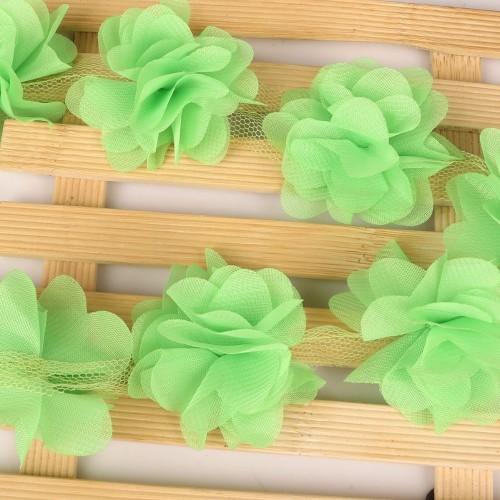 Цветы из шифона Салатовые фото
