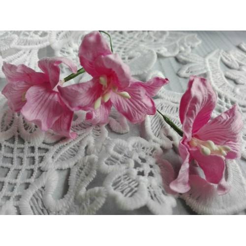 купить бумажные цветы лилии розовые